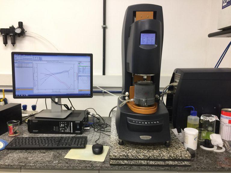 TA Instruments DHR-3 Rheometer.