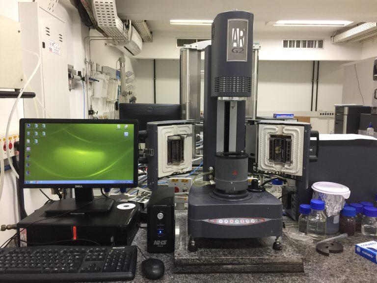 TA Instruments AR-G2 Rheometer.
